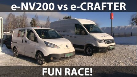 Nissan e-NV200 Vs VW e-Crafter In Epic Electric Van Race: Video