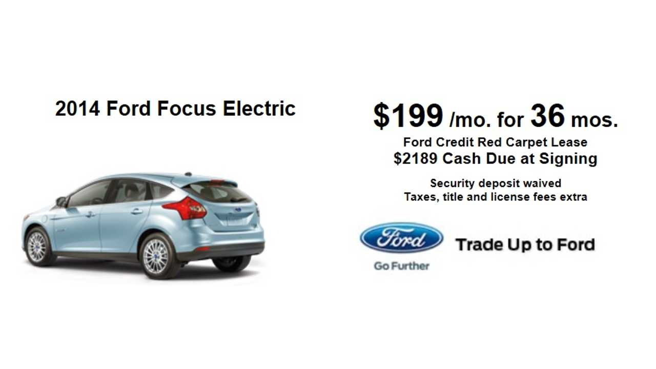 Focus Electric For 199 Per Month