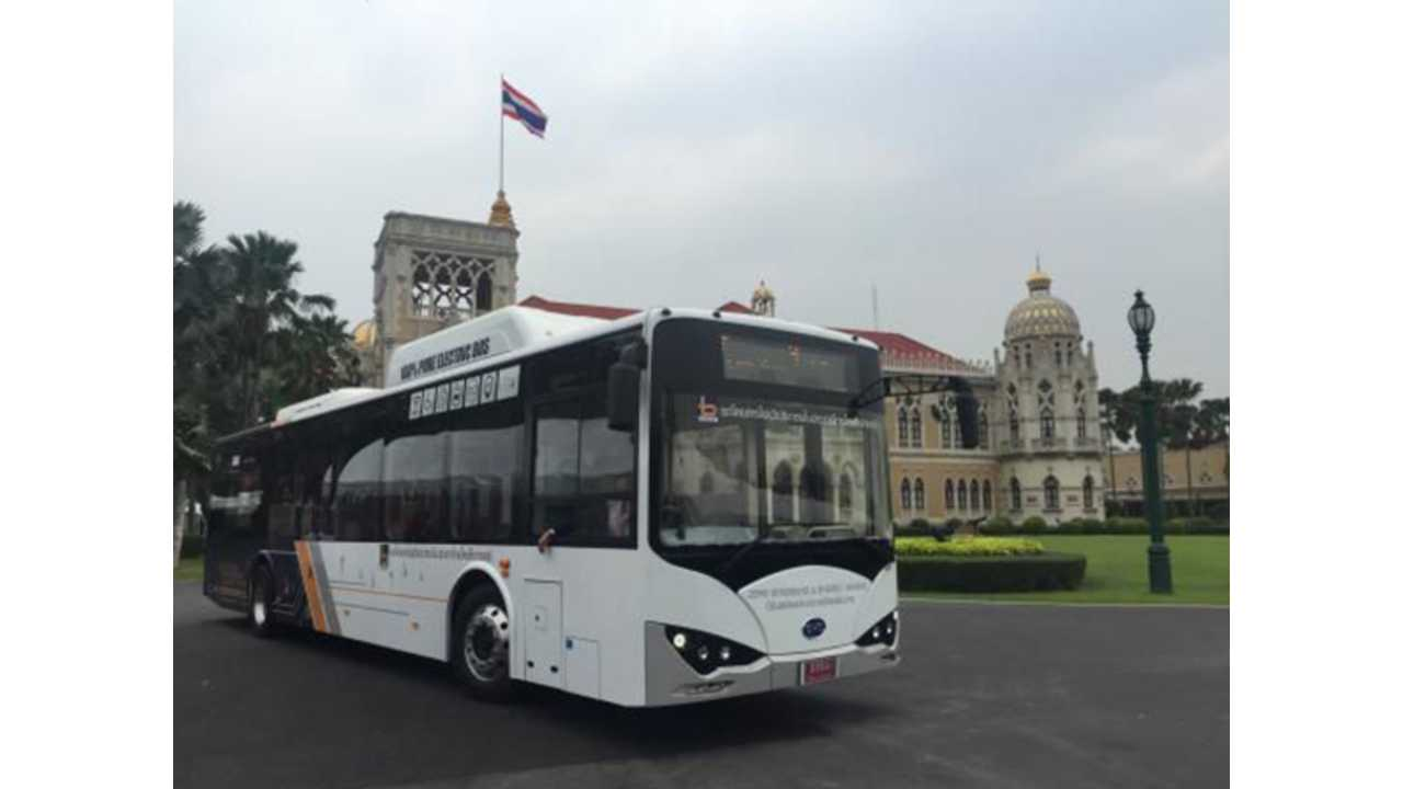 First Thailand-Made BYD Electric Bus Hits The Road