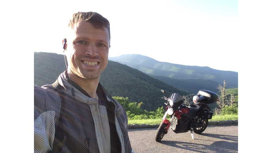Three Country Tour on an Electric Motorcycle - Blue Ridge Parkway