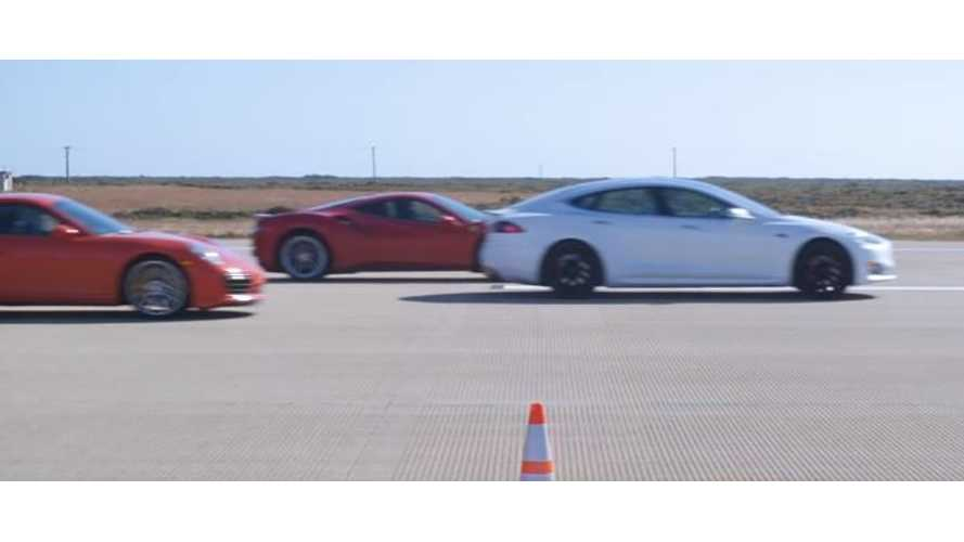 Watch Tesla Model S Beat Supercars In World's Greatest Drag Race