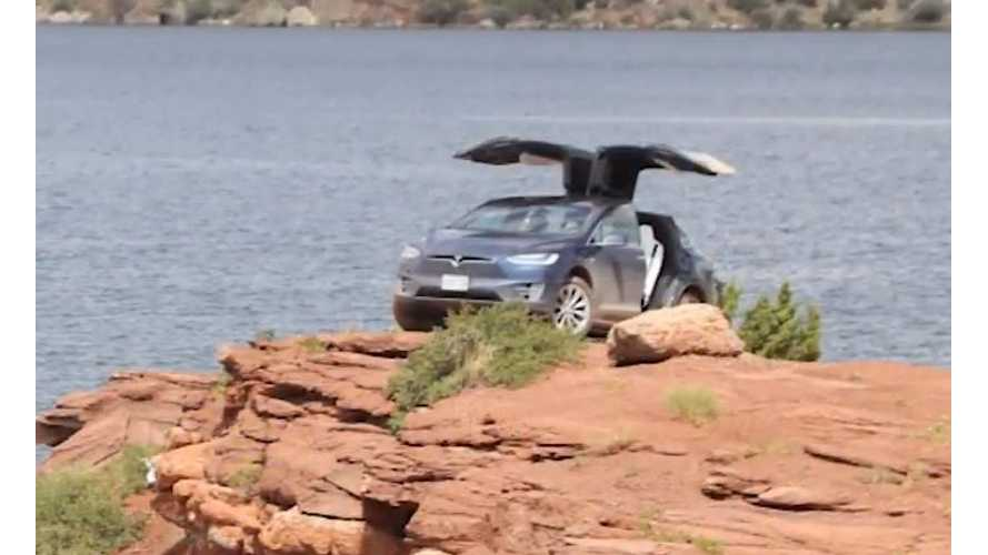 Watch A Tesla Model X Do Some Real Off-Roading - Video