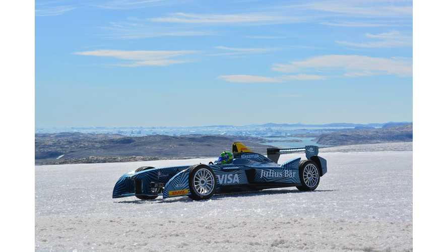 Formula E Driving On Arctic Ice To Raise Awareness Of Global Warming- Video