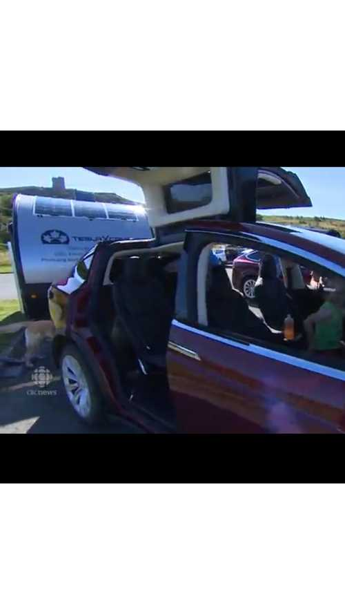 Tesla Model X Goes Coast To Coast With A Camping Trailer In Tow! (Video)