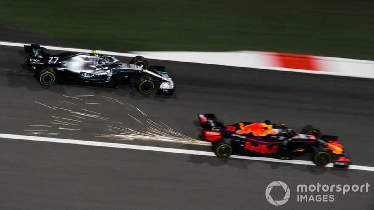 Max Verstappen battles Valtteri Bottas at Bahrain GP 2019