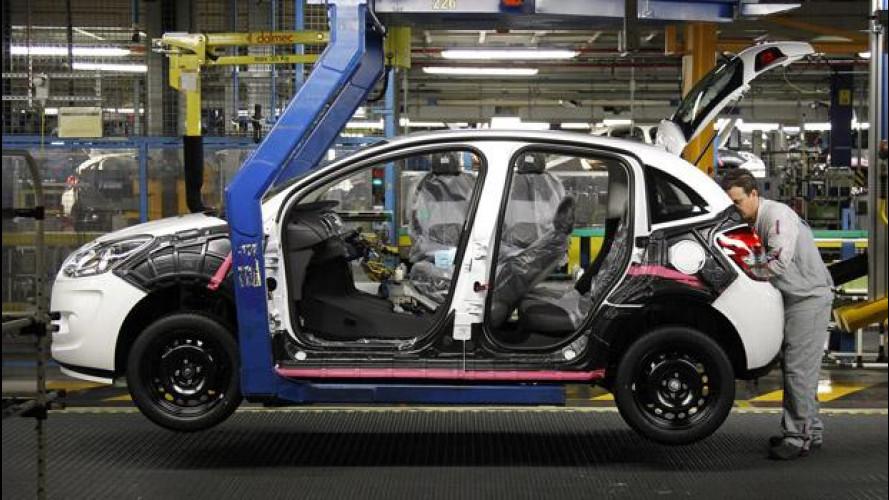 Peugeot Citroen: sono 11.200 i posti di lavoro in meno
