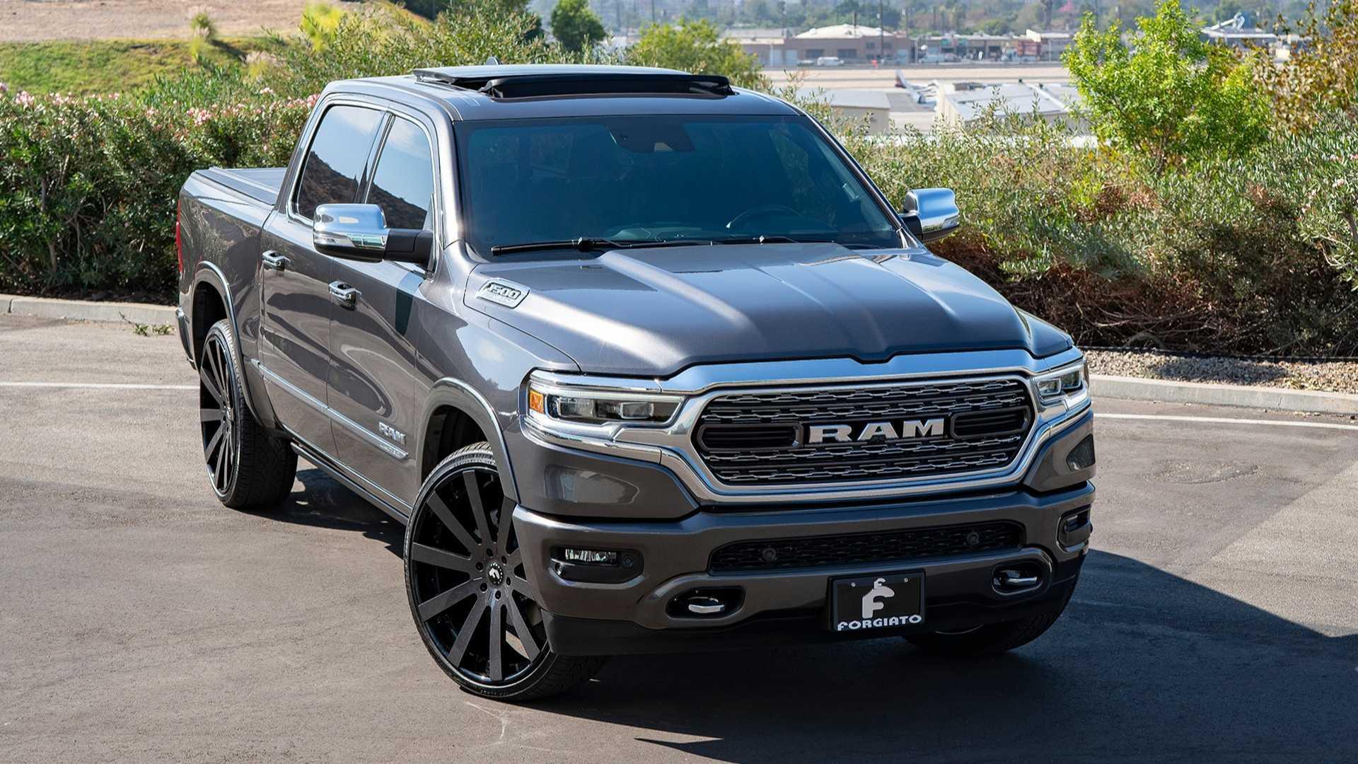 New Dodge Trucks >> Shaq S New Ram 1500 Wears Massive 26 Inch Forgiato Wheels