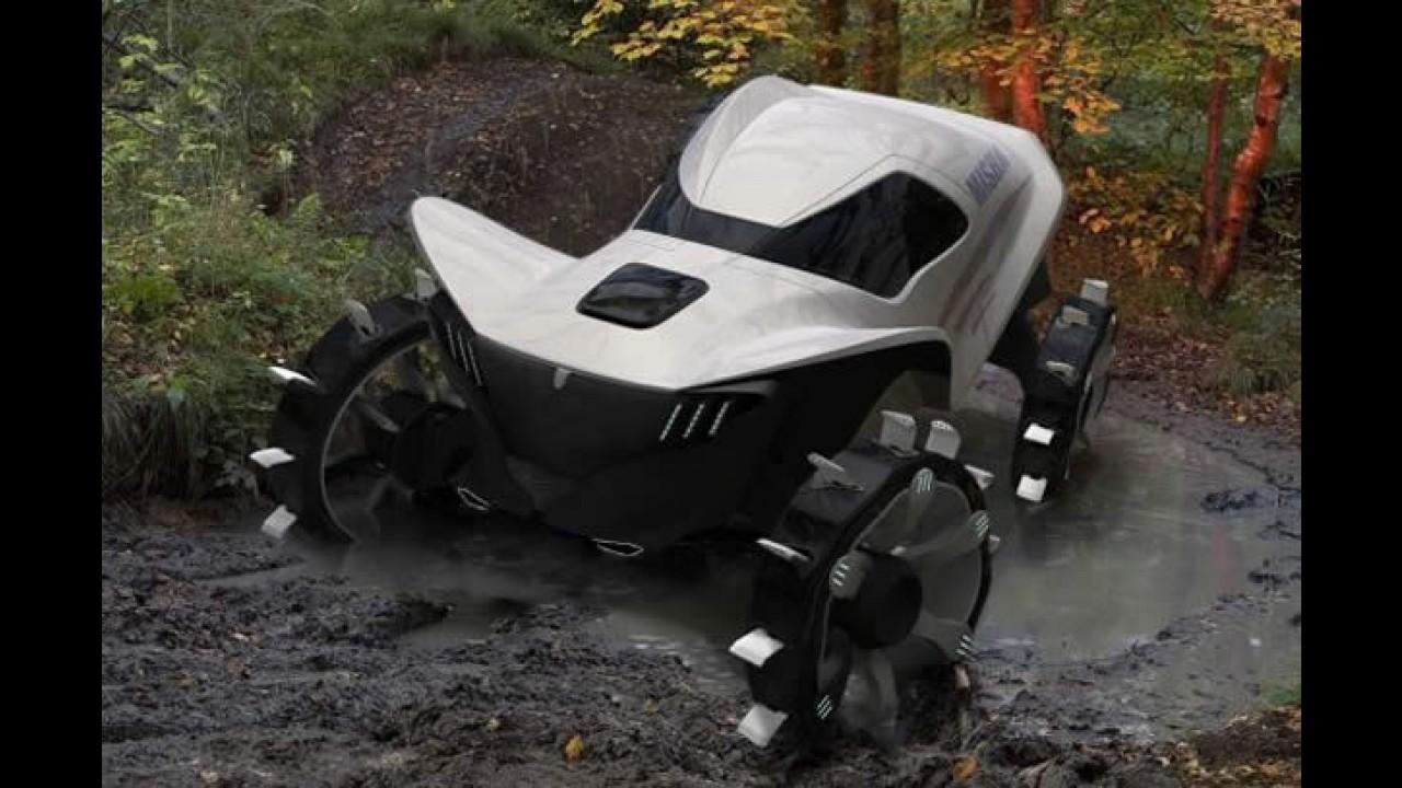 Salão de Detroit: protótipo para andar na neve