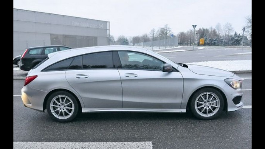 Flagra: Mercedes CLA Shooting Brake perde a vergonha e aparece sem disfarces