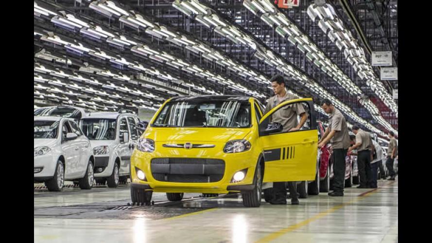 Vendas em julho registram queda de 13% em relação a 2013; Fiat amplia vantagem