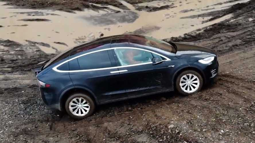 Watch Tesla Model X Handle Some Real Off-Roading