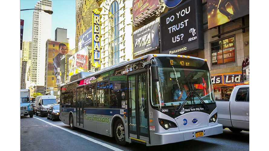 BYD and New York Metropolitan Transportation Authority Complete Successful Pilot Test of BYD Electric Bus