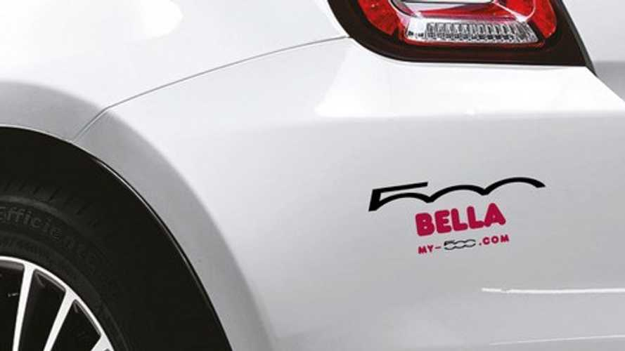 You can now get a name sticker for your Fiat 500