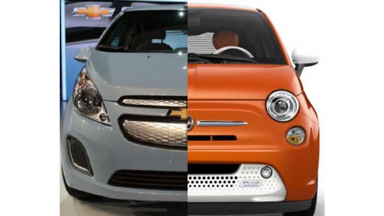 Plug-In Subcompact Comparison: Chevrolet Spark EV Vs Fiat 500e