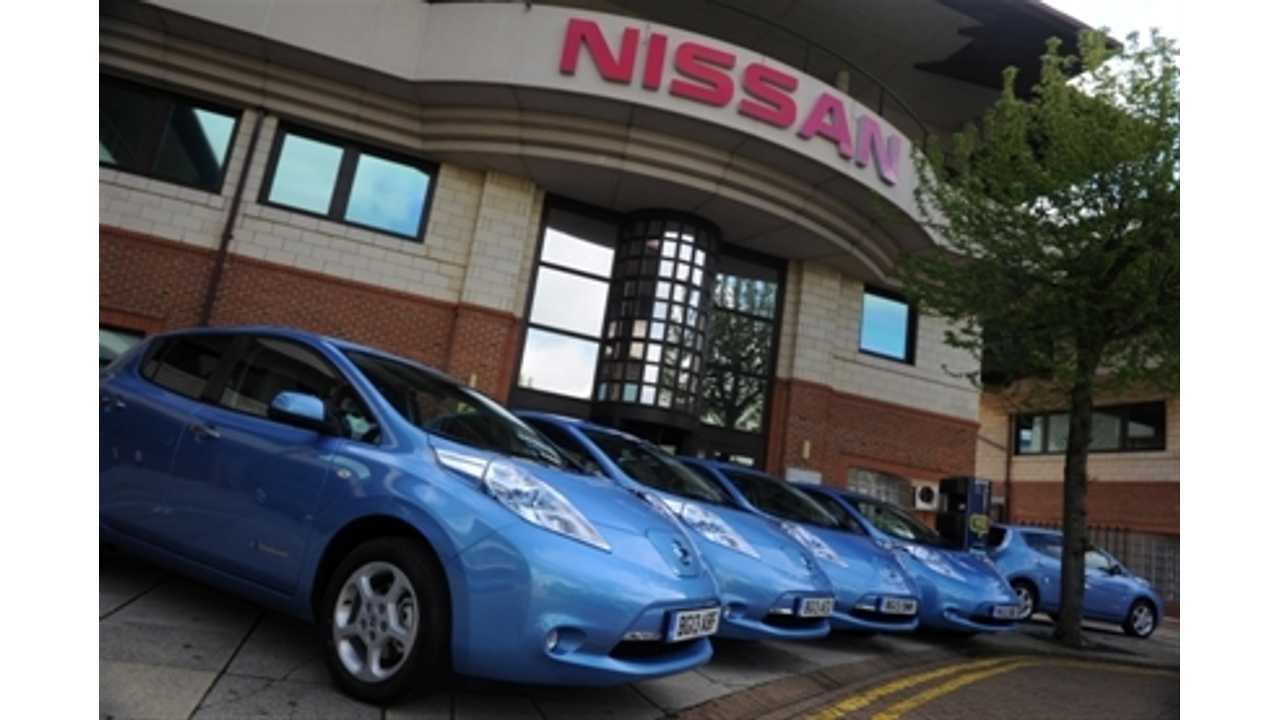 Nissan to Lease Out 50 LEAFs in London Under Low Carbon EV Trial Program