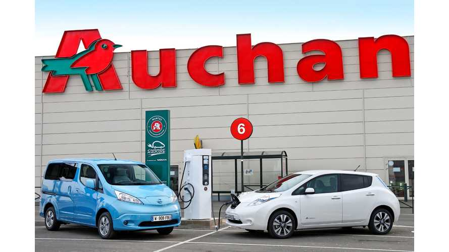 First DC Quick Charging Point at Auchan in France Installed - 129 More To Go