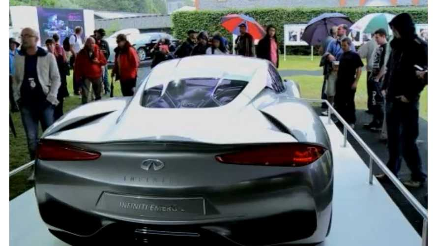 Infiniti EMERG-E Plug-In Hits The Road For The First Time!  (Video)