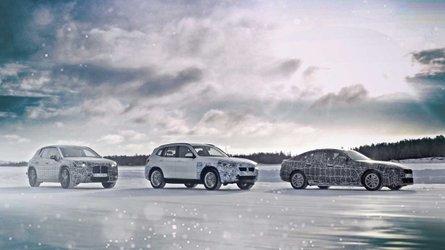 BMW iX3, i4 und iNEXT im Kältetest am Polarkreis