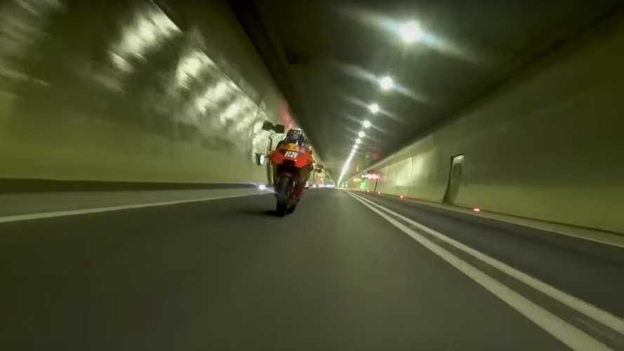 MotoGP Oliveira Christens 5-Mile Long Tunnel On KTM RC16