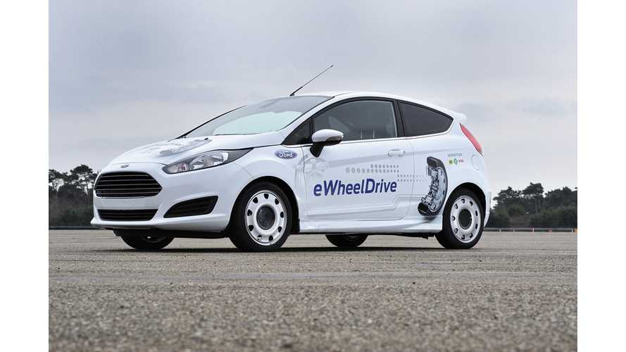 Schaeffler Puts Rear E-Wheel Drive Electric Ford Fiesta On Display