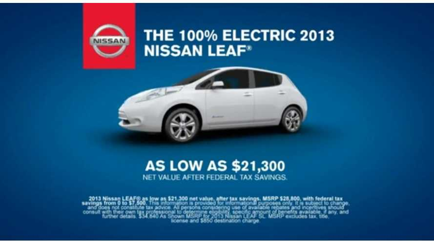 Nissan to Focus on Money Savings, Payback Period in Future LEAF Ads