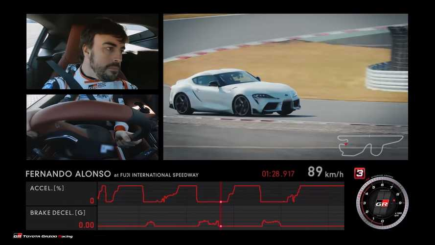 Toyota Supra sampled on track by Fernando Alonso and friends