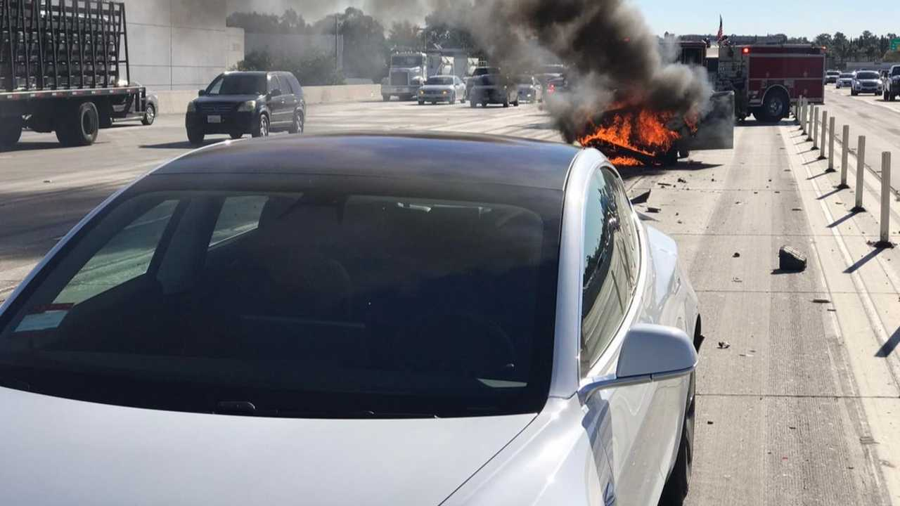 Nissan Sentra fire