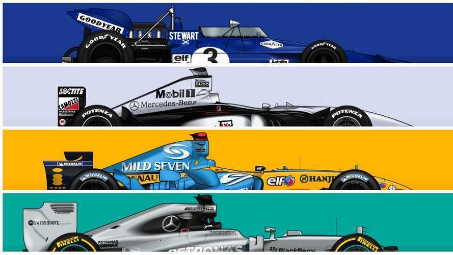 Diaporama - Les F1 les plus victorieuses de l'Histoire