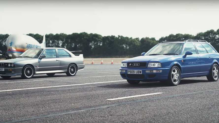 90s superstars: BMW E30 M3 drag caces Audi RS2