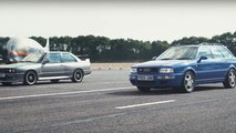 bmw e30 m3 audi rs2 drag video