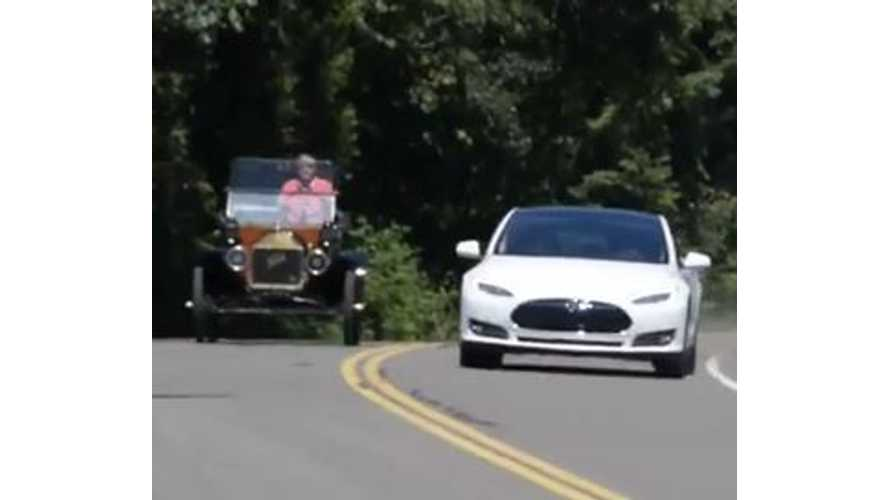 Video: Tesla Model S Compared to Ford Model T -
