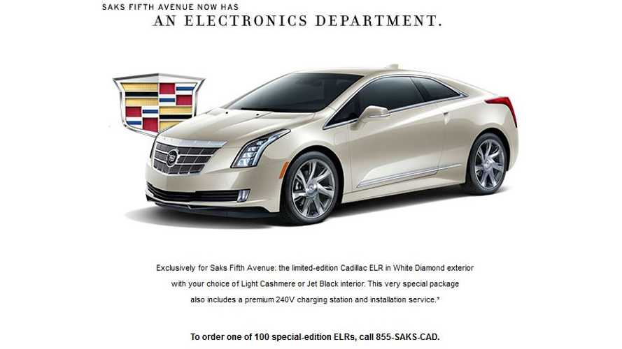 Order Now: Limited Edition Saks Fifth Avenue Cadillac ELR