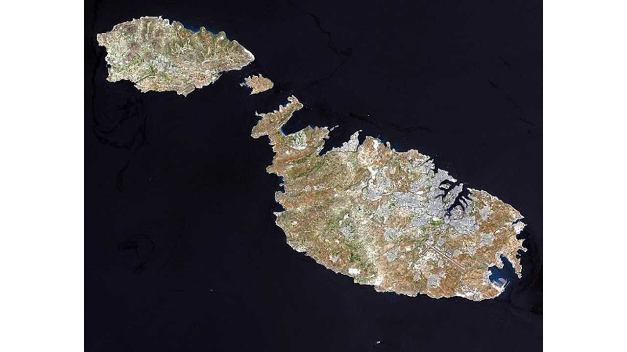 Satellite Shot Of Malta