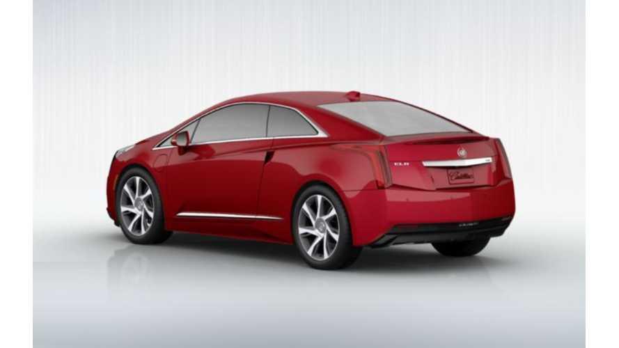 "Configure Your Cadillac ELR In Red, With Fancy 20"" Wheels And A Cashmere Interior"