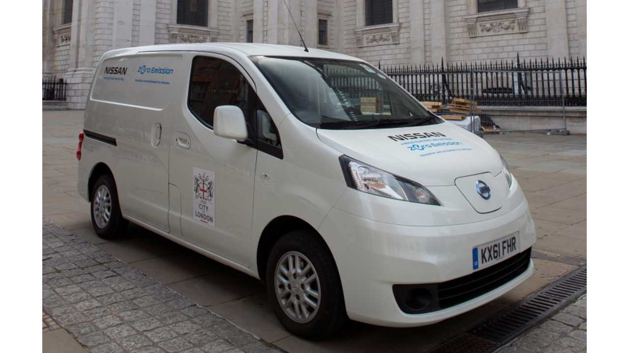 Successful Trial of Electric Nissan e-NV200 Comes to an End in London