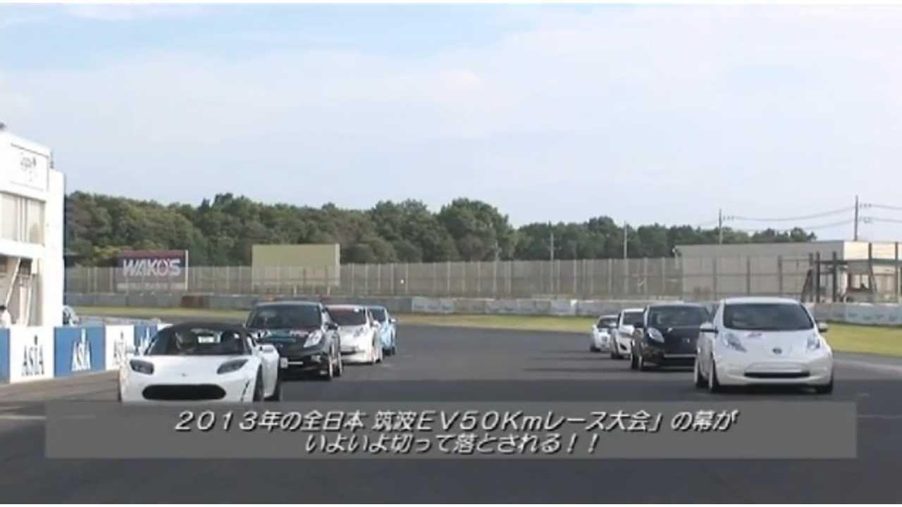 All Japan EV-GP Series Round Three; Tesla Wins While LEAFs Duel (w/video)