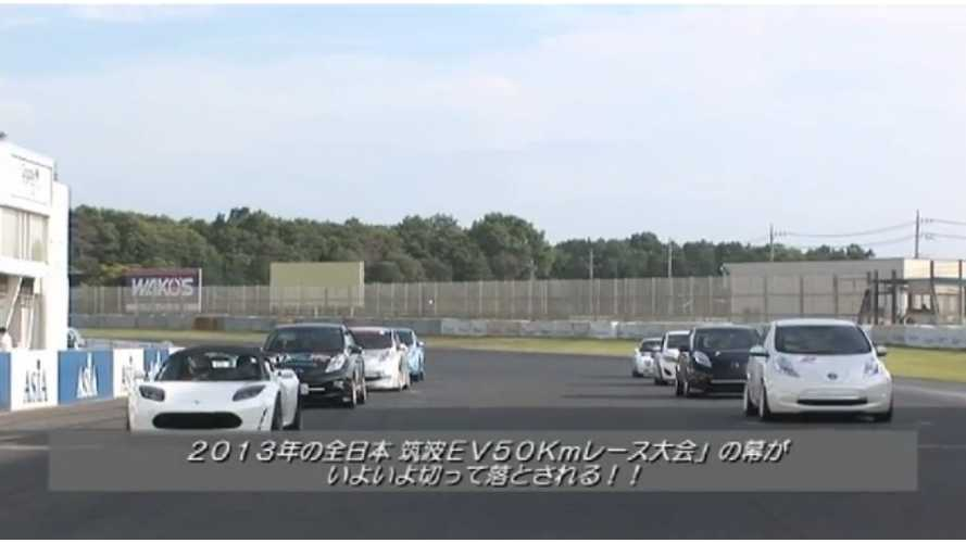 All Japan EV-GP Series Round Three; Tesla Wins While LEAFs Duel (w/video)