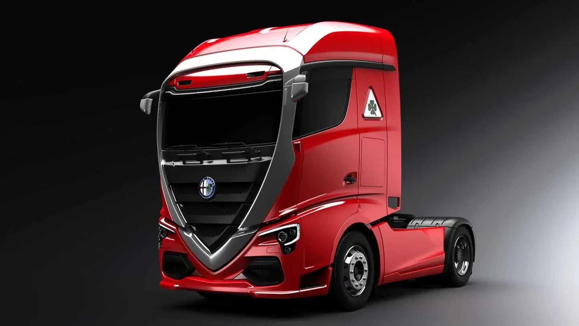 Projeção caminhão Alfa Romeo
