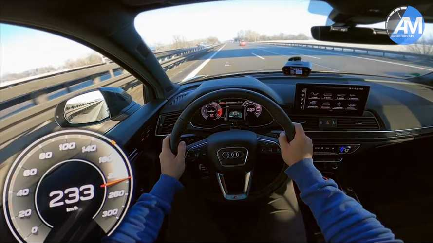 2021 Audi SQ5 puts its diesel engine to work in Autobahn top speed run