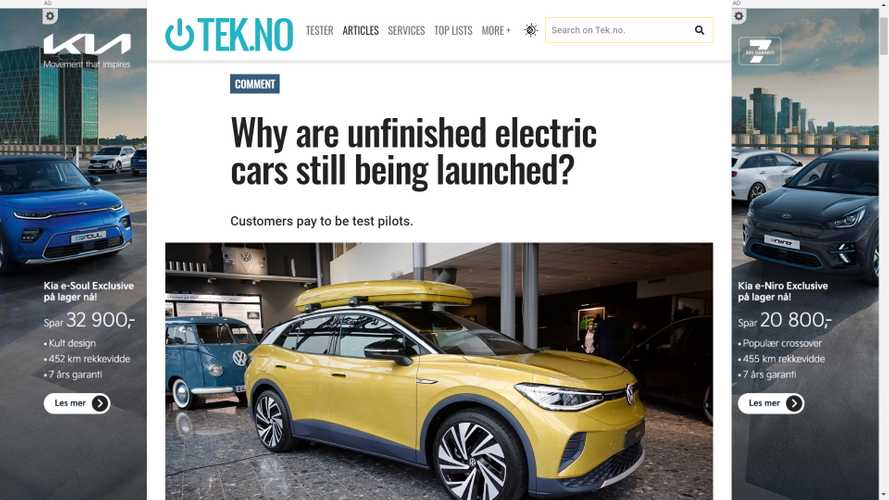 Norwegian Writer Upset That EV Buyers Are Beta Testers For Undone EVs