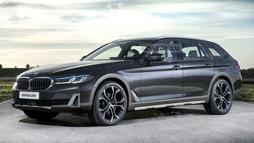 BMW 5 Series rugged estate rendering imagines Audi A6 Allroad rival