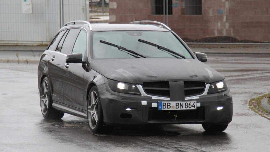 2012 Mercedes C63 AMG Estate - First spy photos