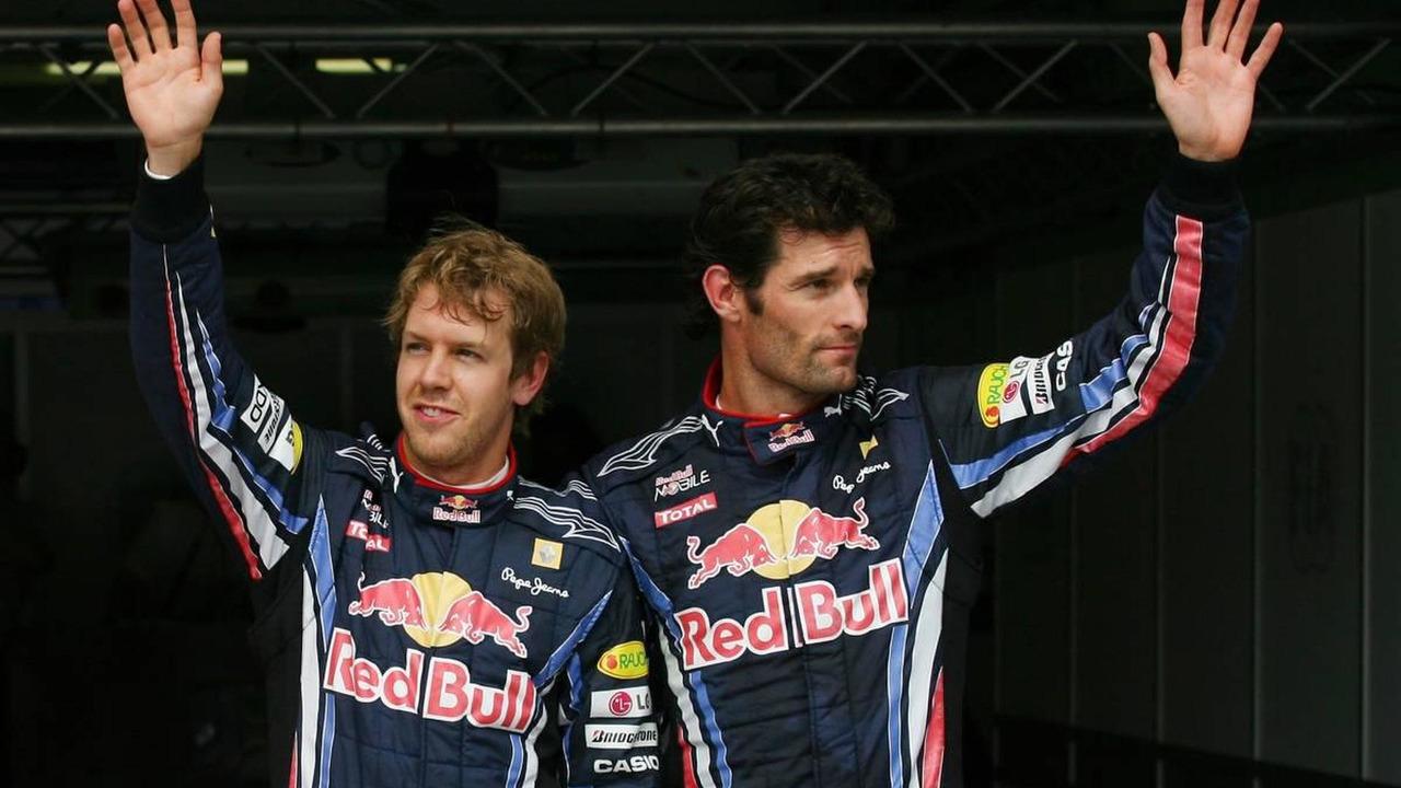 Sebastian Vettel (GER), Red Bull Racing gets pole position with Mark Webber (AUS), Red Bull Racing - Formula 1 World Championship, Rd 12, Hungarian Grand Prix, 31.07.2010 Budapest, Hungary