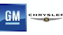 GM and Chrysler logos