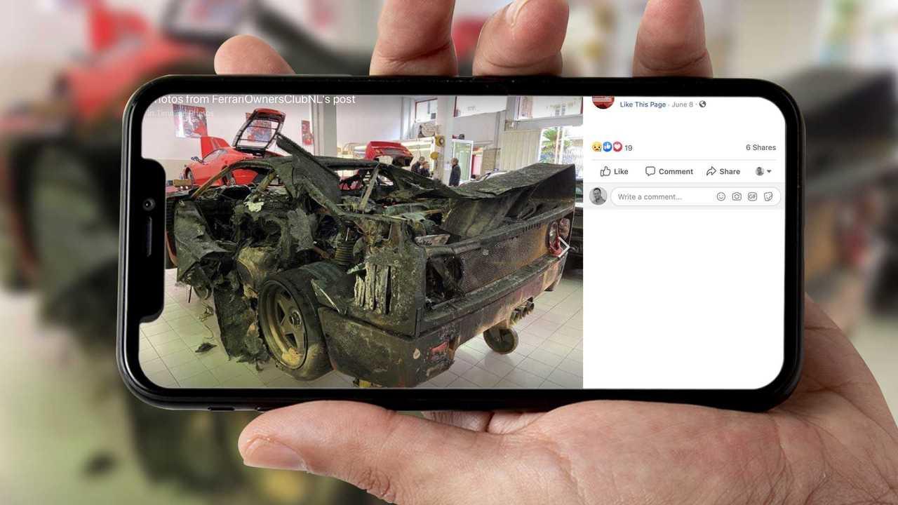 Burnt Ferrari F40