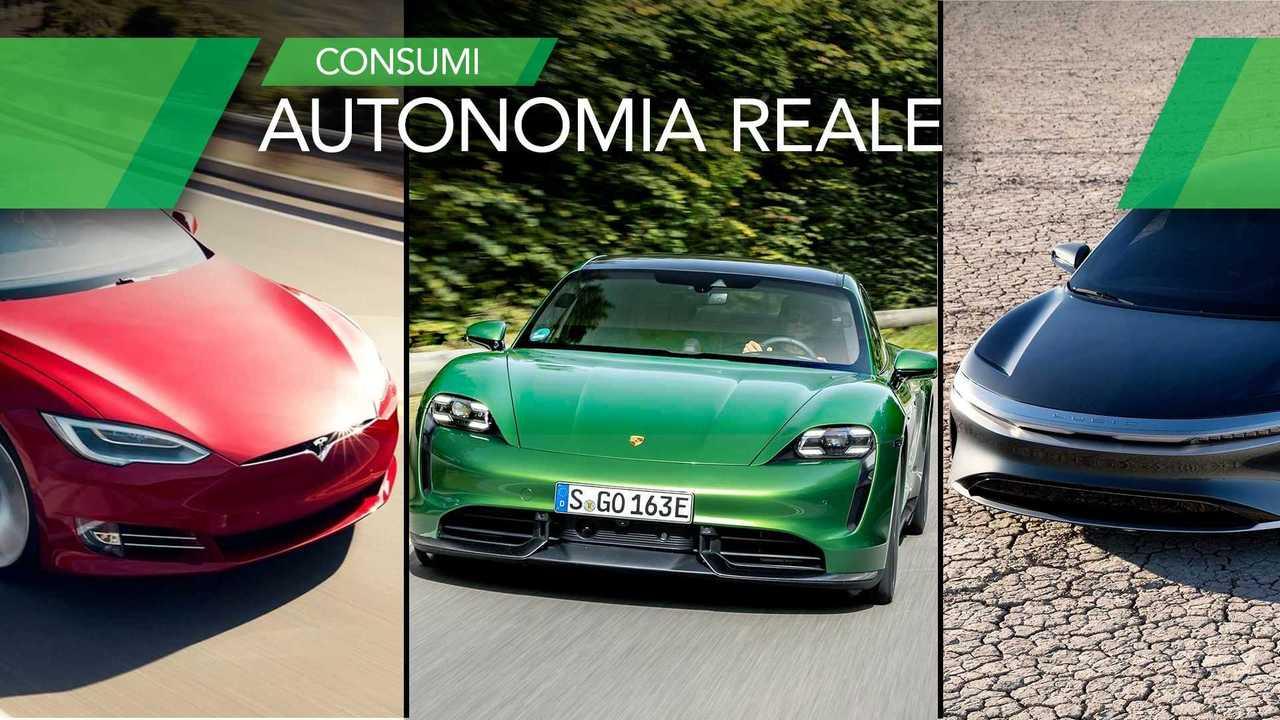 Consumi reali Tesla-Porsche-Polestar