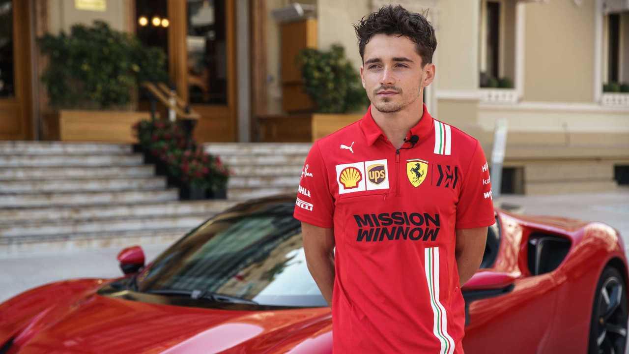 Charles Leclerc clore le GP de Monaco dans une Ferrari SF90 Stradale