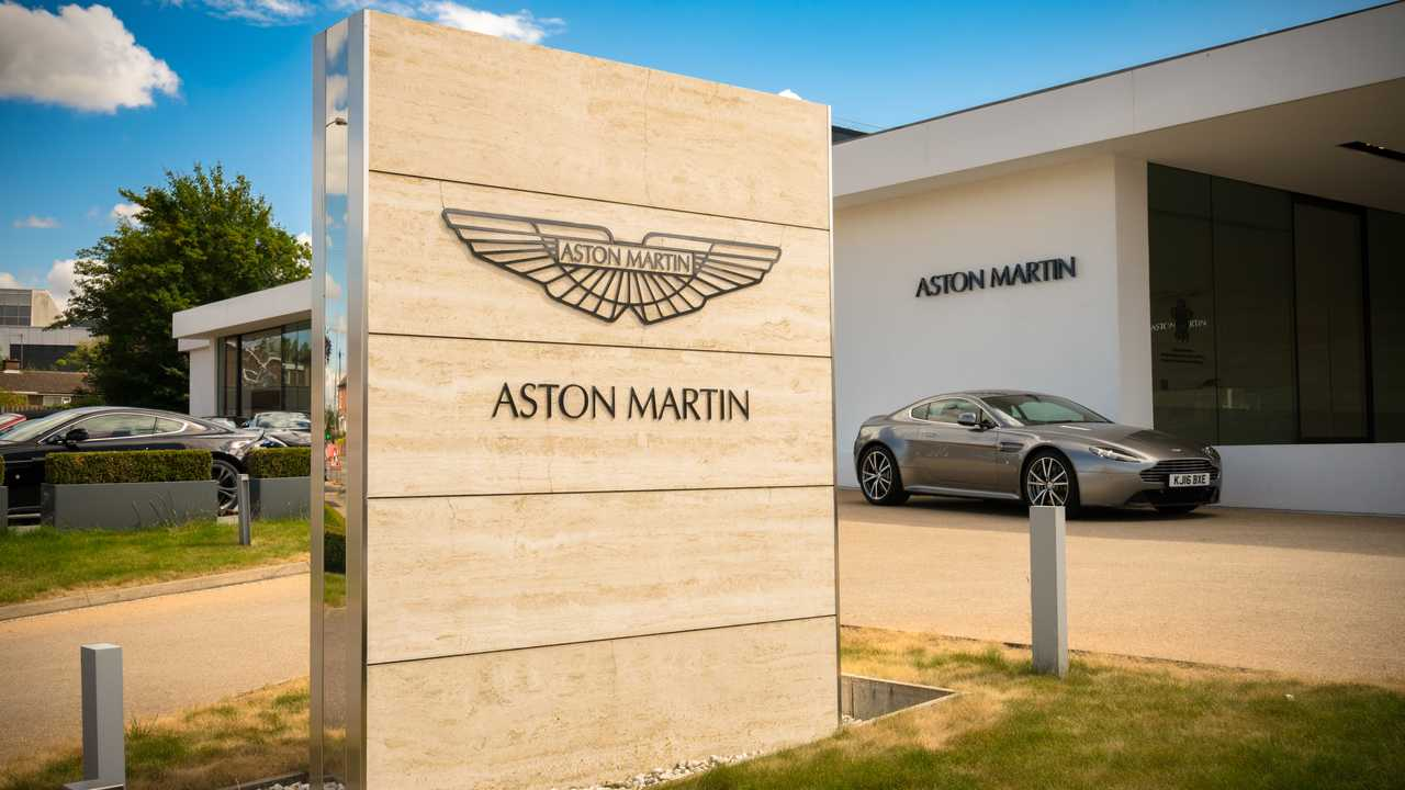 Aston Martin in Newport Pagnell, Milton Keynes, England