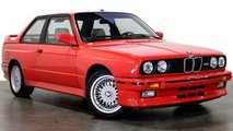 L'ex-BMW M3 E30 rouge de Paul Walker