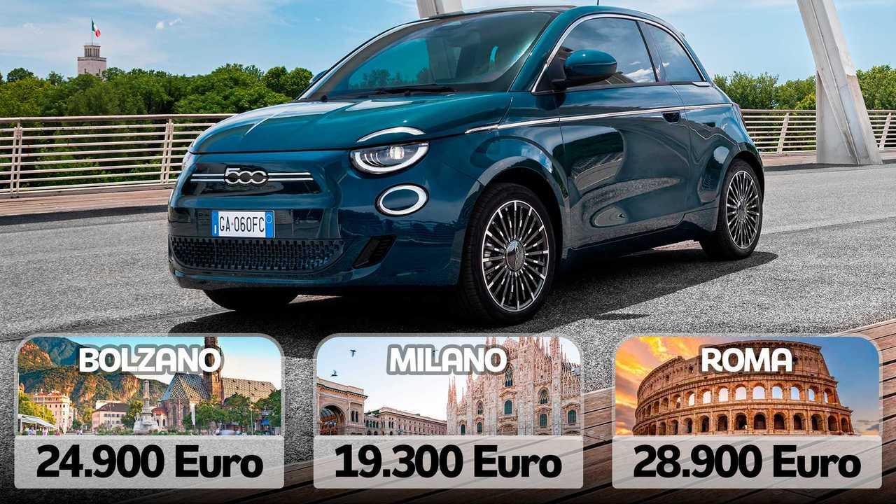 Copertina 2 Fiat 500 elettrica, qual è il prezzo